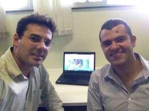 Dr. Vinícius Oliveira e Lucas Calais. Foto: acervo pessoal facebook.