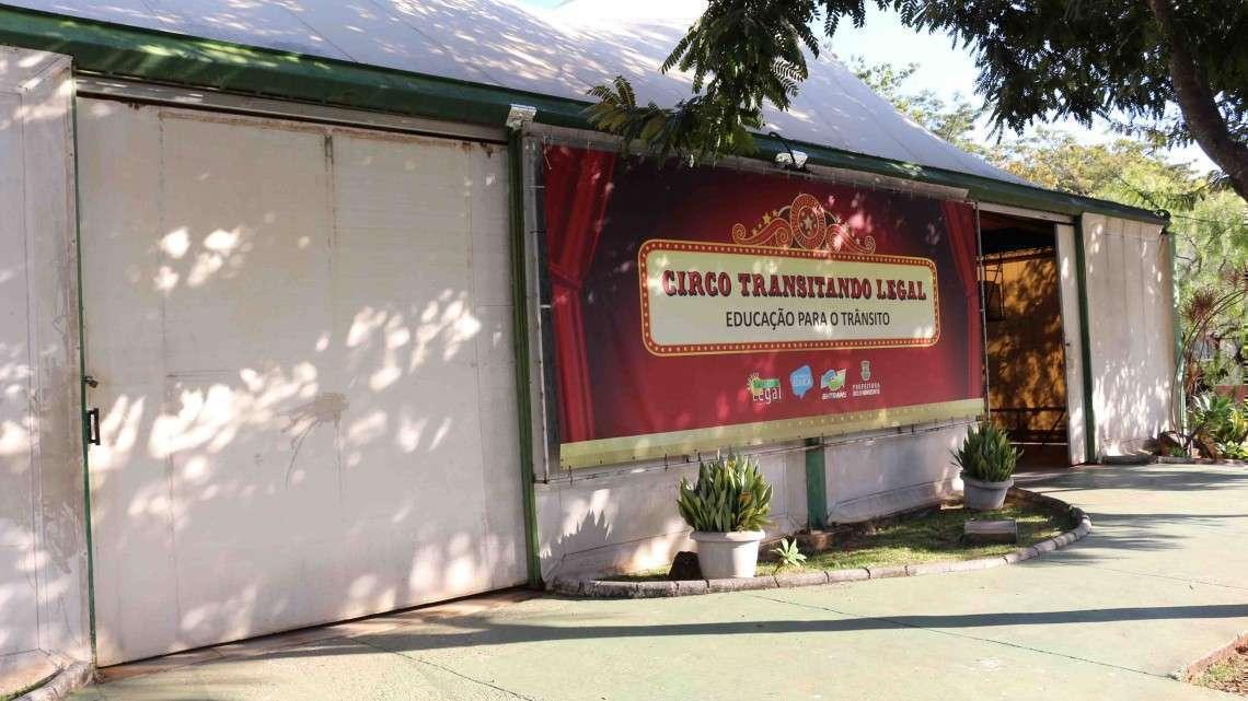 "Circo ""Transitando Legal"" funciona no Buritis. Foto: Welleson Mendes"