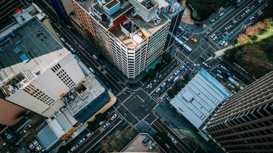 Imagem aérea do trânsito