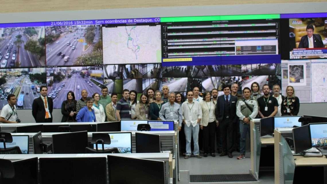 Além da inauguração do novo portal, os presentes na cerimônia também puderam conhecer a sala de operações do COP-BH. Foto: Welleson Mendes