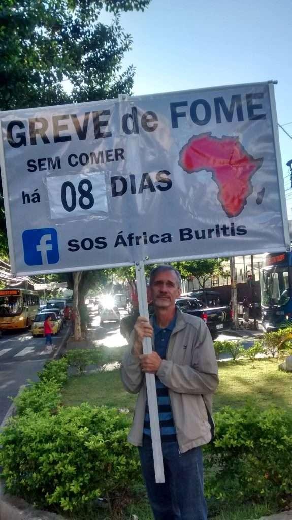 Celso Senna em greve de fome / Foto: Victória Farias