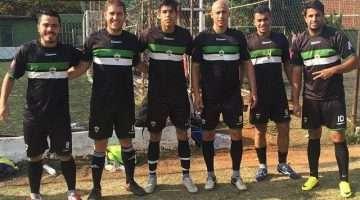 Da direita para esquerda: Márcio, Flávio, Cicinho, Avner, Pedro, Ancelmo - Fonte - Roberto Guimarães