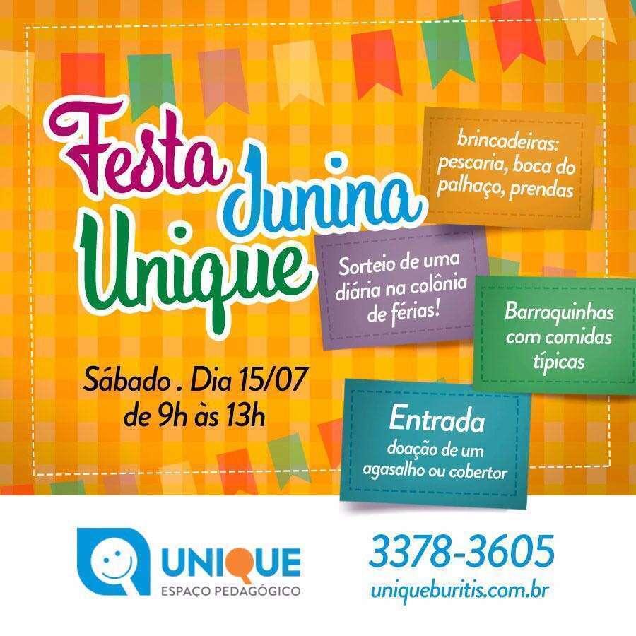 Festa junina Unique - Fonte - Divulgação