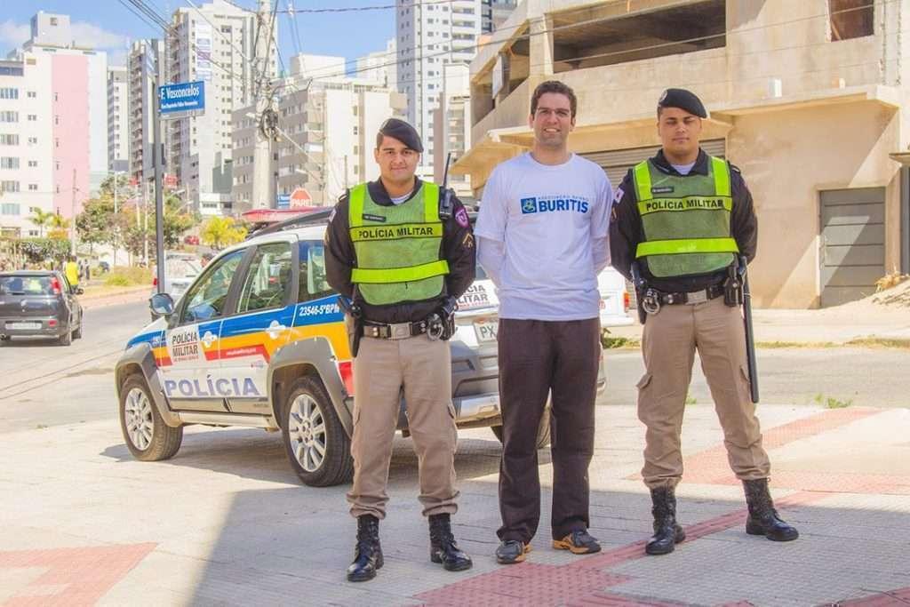 Inauguração a rua é nossa - Braulio Lara, presidente da ABB, e Policiais Militares - Crédito - Âncora Foto e Vídeo - Fotógrafo - William Oliveira -