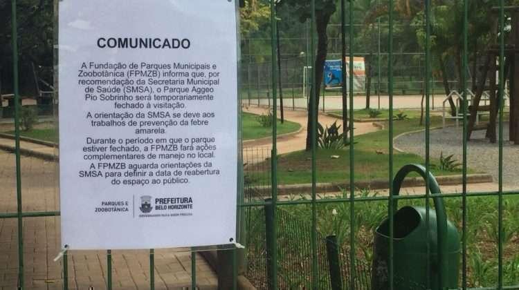 Portões fechados do parque Aggeo Pio Sobrinho - Foto: Arthur Scafutto